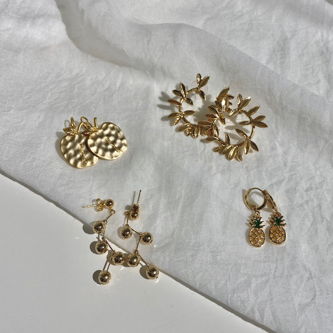 Gold Earrings - Nature Collections