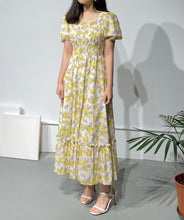 Load image into Gallery viewer, YUNA Floral Maxi Smock Dress