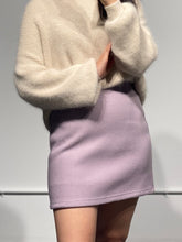 Load image into Gallery viewer, MARI Wool Mini Skirt in Purple