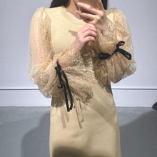 Load image into Gallery viewer, JISU Lace Sleeves Dress