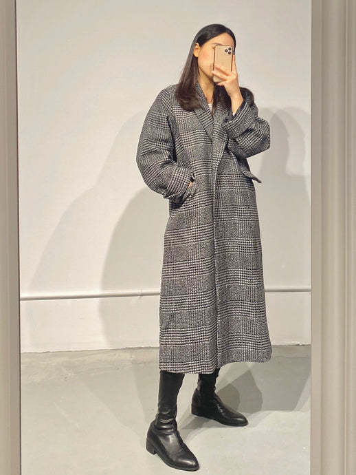 BADA Check Midi Coat