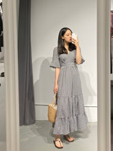 Load image into Gallery viewer, YURI Gingham Smock Maxi Dress