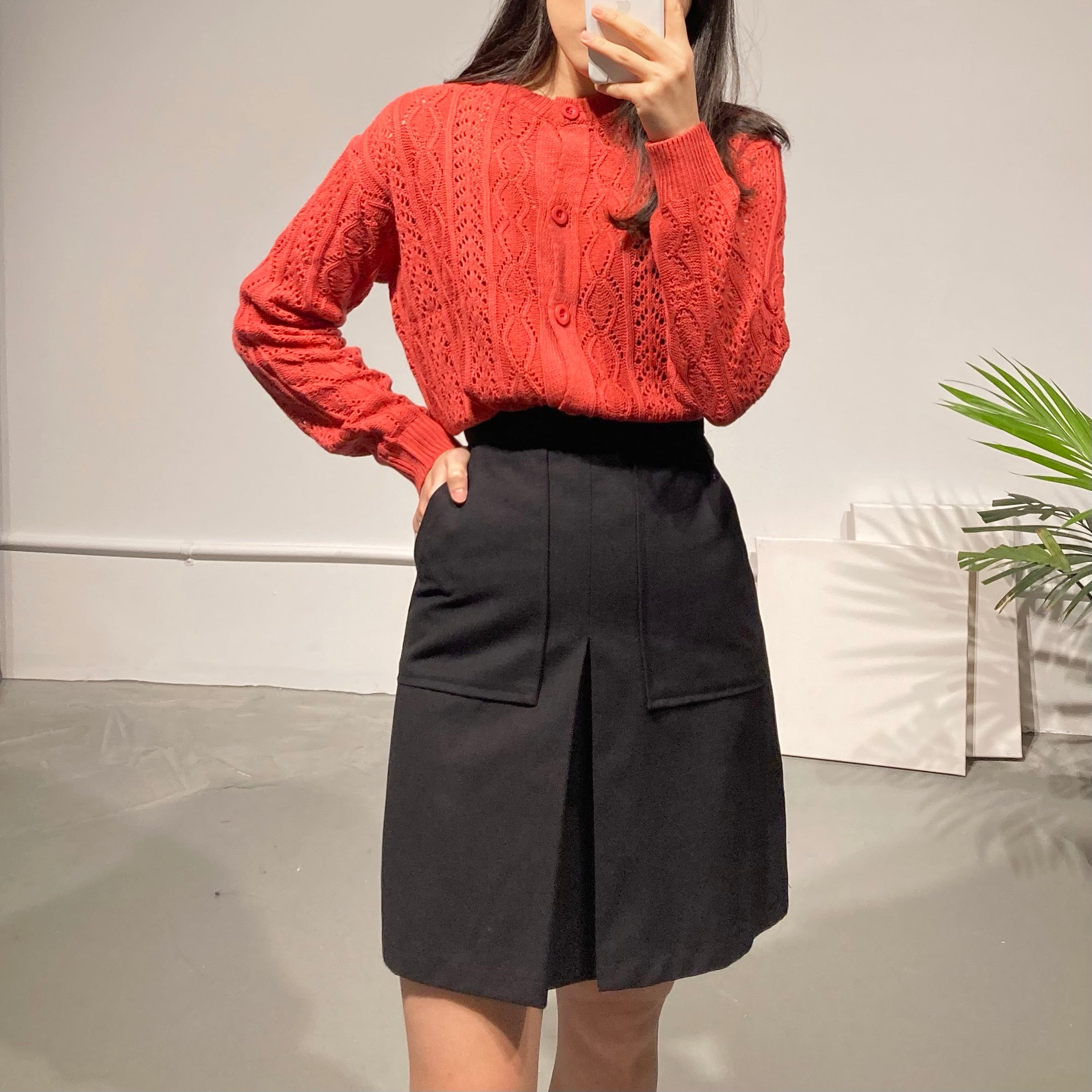 YEOREUM Pleated Midi Skirt