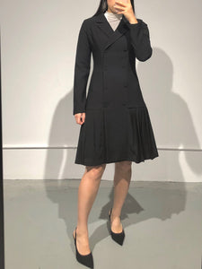 YERI Pleated Jacket Dress