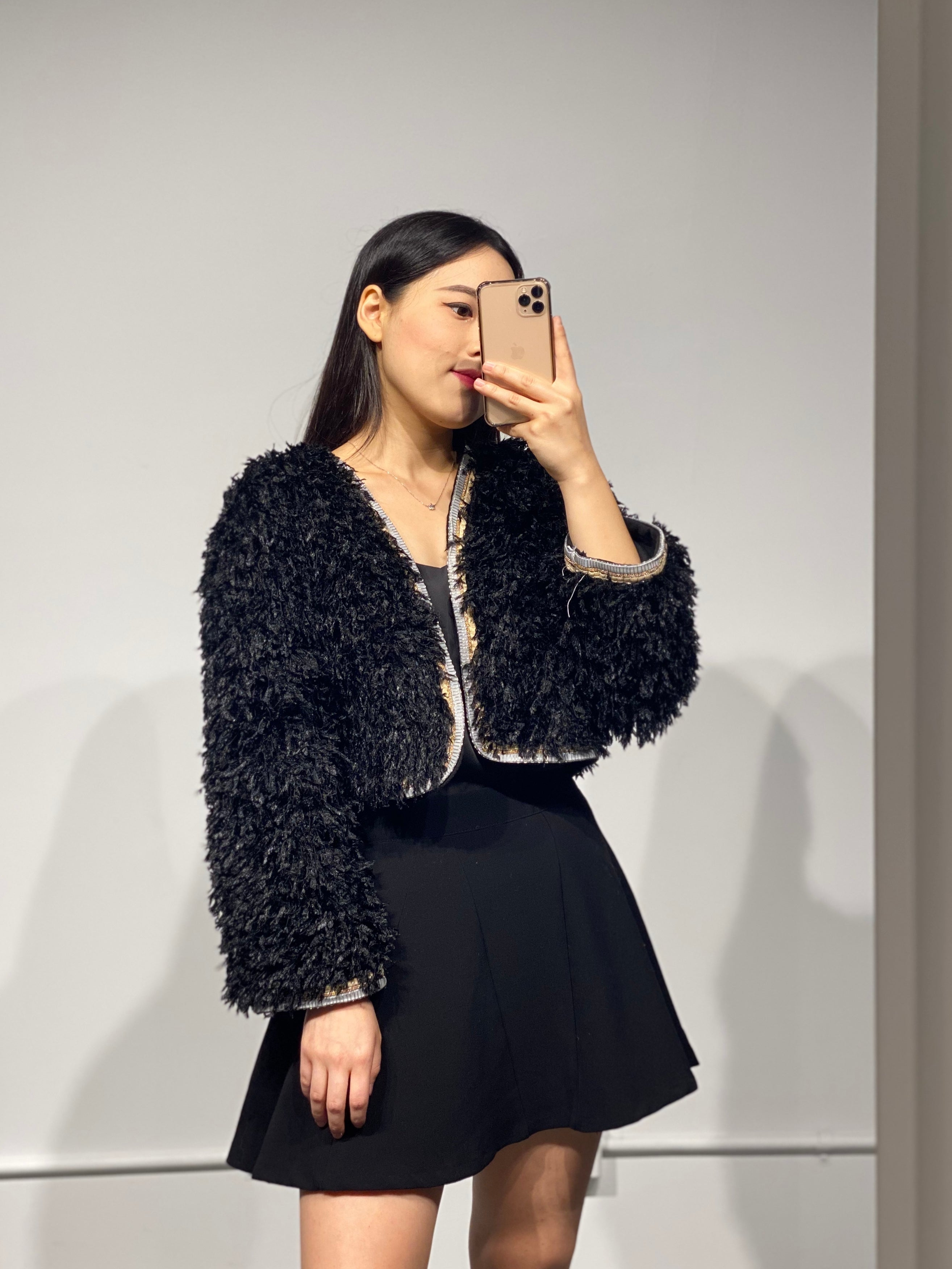 MISO Faux Feather Jacket