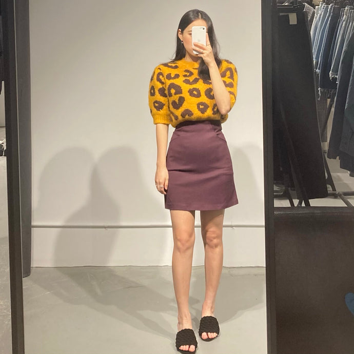 YOON Leopard Knit Top