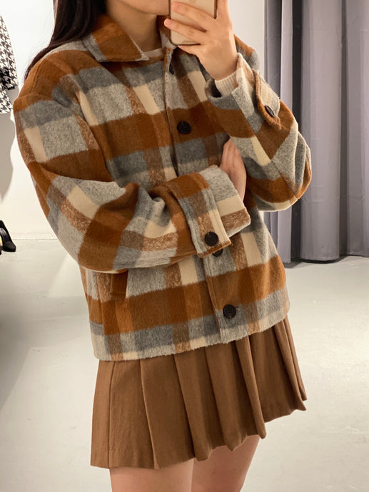 IU Wool Checked Jacket