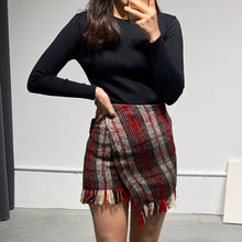 Load image into Gallery viewer, URI Asymmetric Mini Skirt