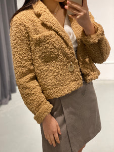 YUJIN Sherpa Crop Jacket