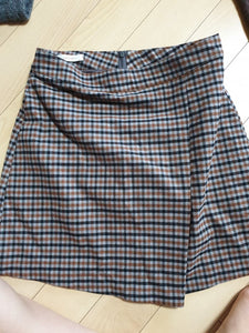 Gamgak Check Mini Skirt