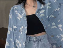 Load image into Gallery viewer, Butterfly Denim Jacket
