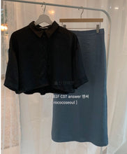 Load image into Gallery viewer, Silky Crop Shirt