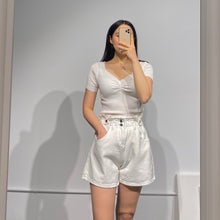 Load image into Gallery viewer, INHA White Denim Shorts