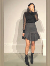 Load image into Gallery viewer, SOHEE Sheer Sleeves Knitted Top