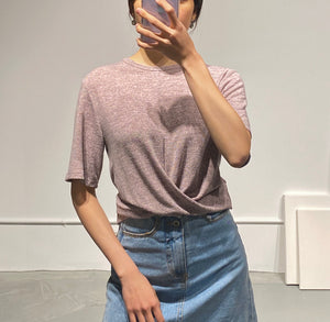 YUJIN Twist Crop Top