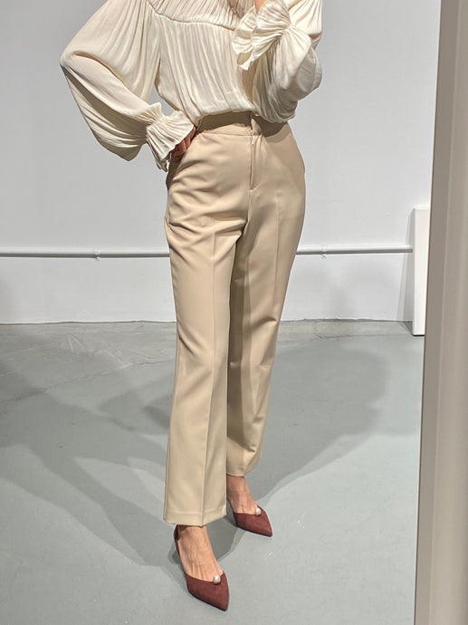 YUNA Beige Tailored Trousers