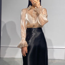 Load image into Gallery viewer, YUJI Gold Organza Blouse