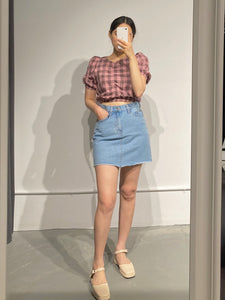 YUNA Puff Sleeve Crop Top
