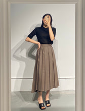 Load image into Gallery viewer, HINA Wrap Pleated Skirt