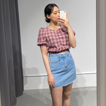 Load image into Gallery viewer, YUNA Puff Sleeve Crop Top
