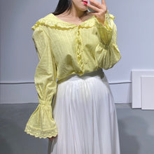 Load image into Gallery viewer, YURA Bell-sleeves Blouse in two colors