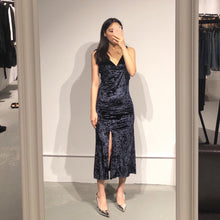 Load image into Gallery viewer, MINHEE Velvet Slit Dress
