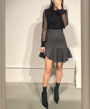Load image into Gallery viewer, YURI Frilled Hem Mini Skirt