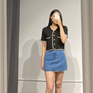LIA A-Line Denim Skirt