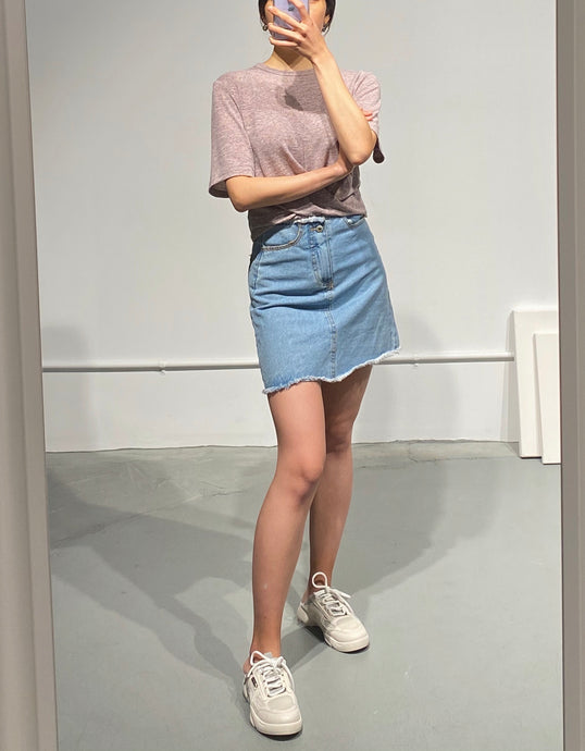 RUNA Denim Mini Skirt