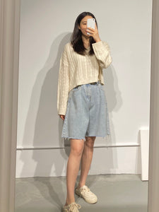 SUJI V-neck Crop Knit