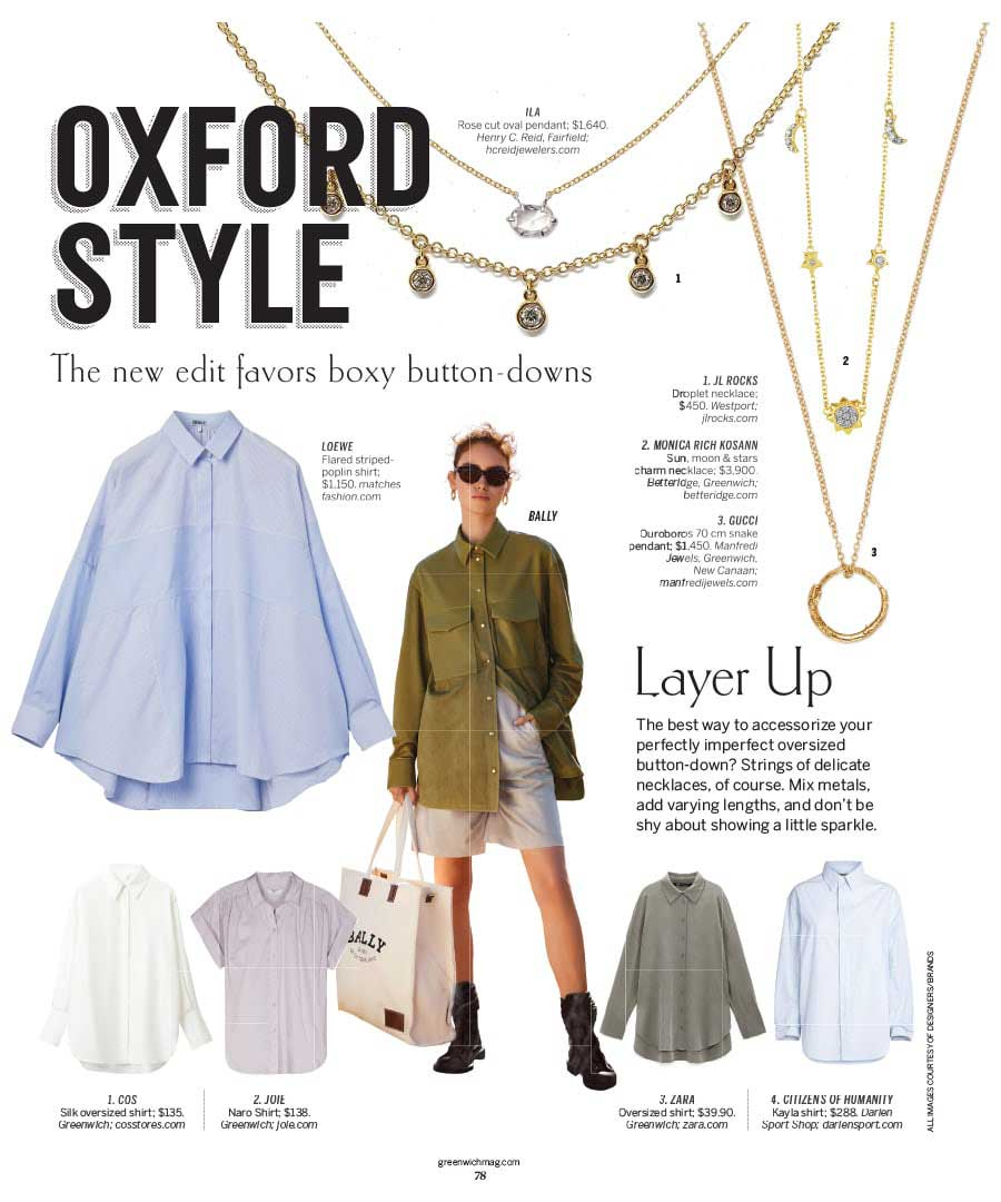 """JL Rocks featured in Greenwich magazine's """"Oxford Style"""" article"""