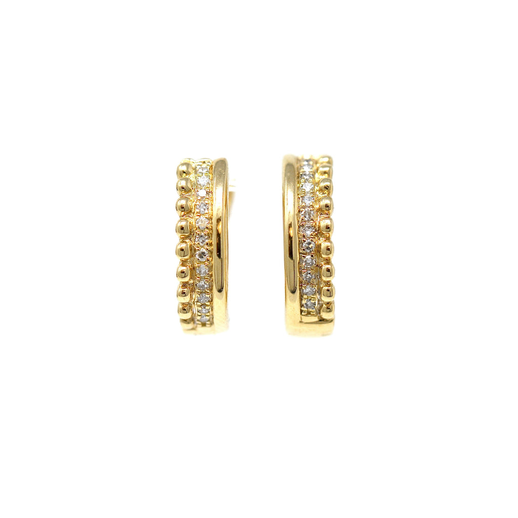 Caviar Huggie Earrings
