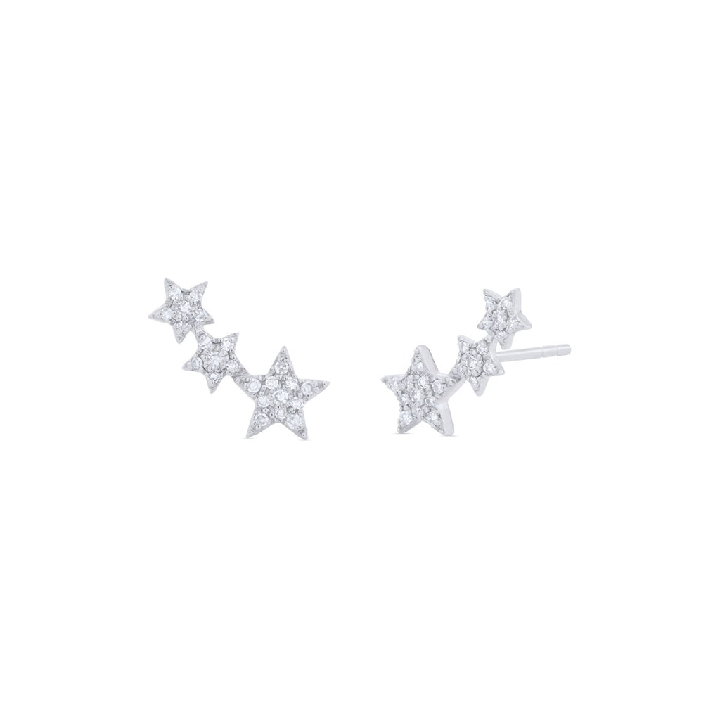 Mini Star Climber Earrings