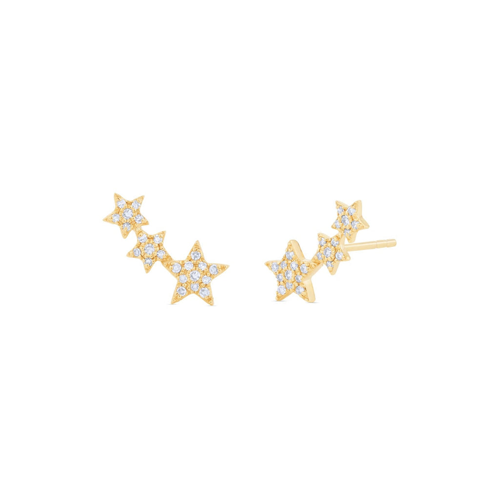JL Rocks Fine Jewelry, Mini Star Climber Earrings