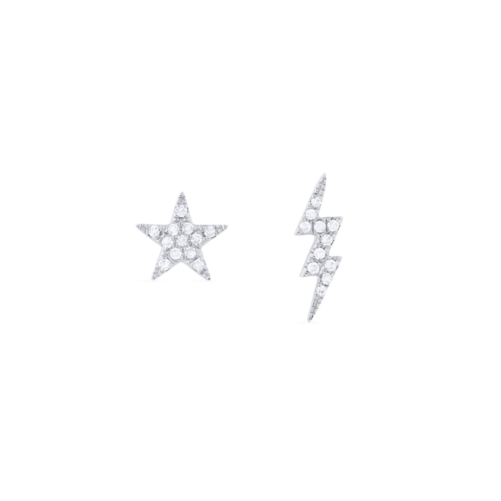 Star + Bolt Earrings