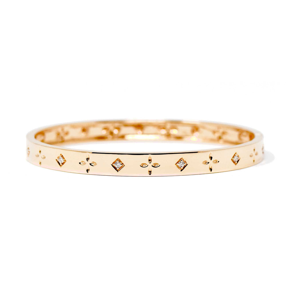 JL Rocks Fine Jewelry, Dori Slim Bangle in Rose Gold