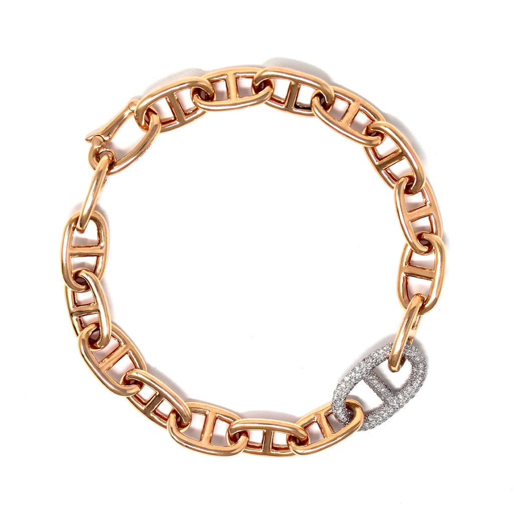 JL Rocks Fine Jewelry, Missing Link Bracelet in Rose Gold