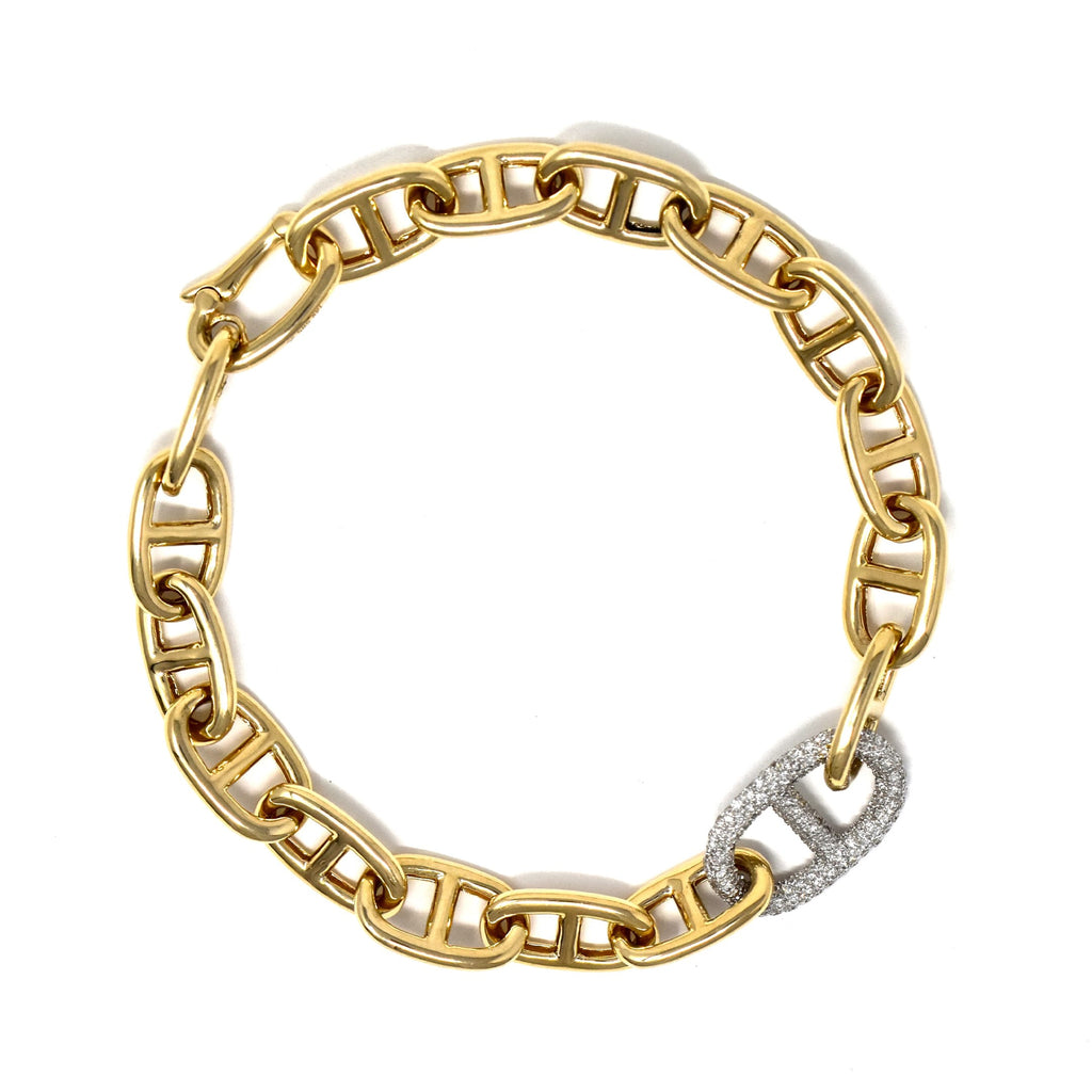 JL Rocks Fine Jewelry, Missing Link Bracelet in Yellow Gold