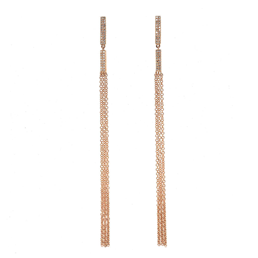 JL Rocks Fine Jewelry, Stick Stud Earrings Deluxe in Rose Gold