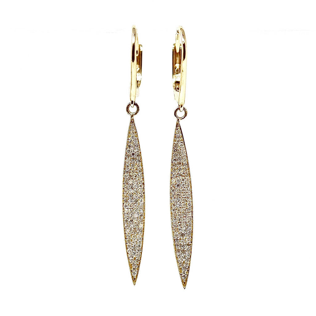 JL Rocks Fine Jewelry, Wakeboard Earrings in Yellow Gold