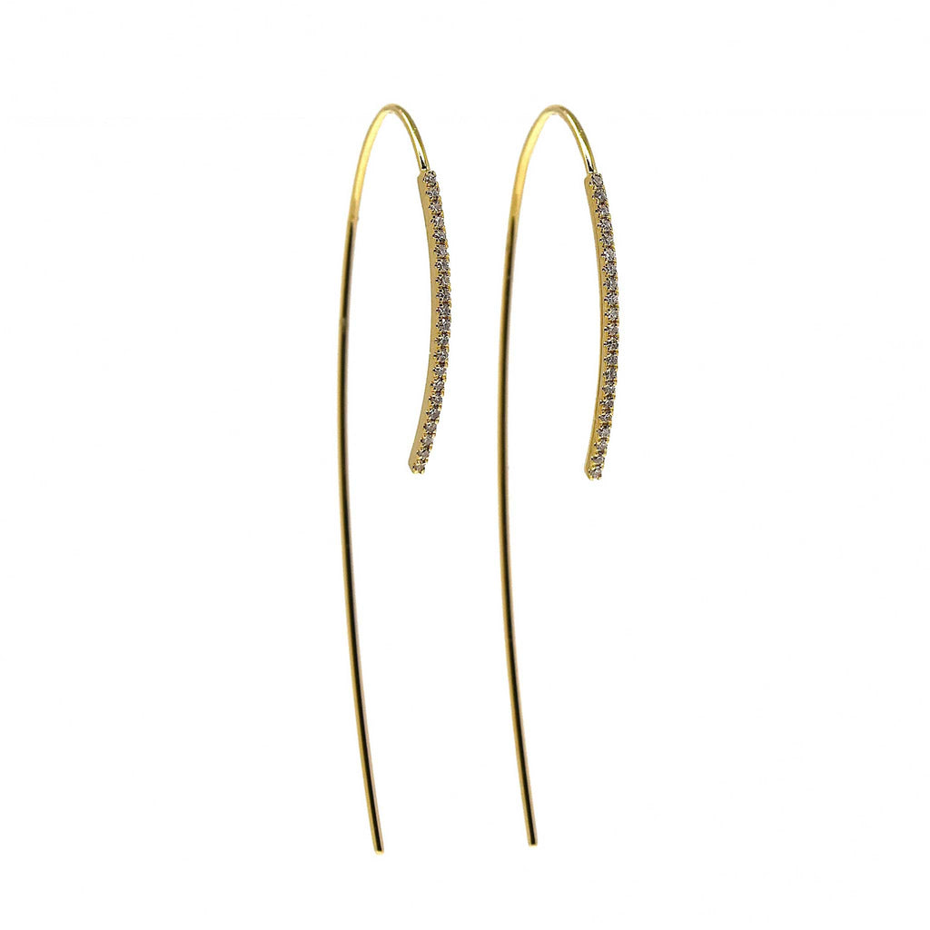 JL Rocks Fine Jewelry, Ice Pick Earrings in Yellow Gold