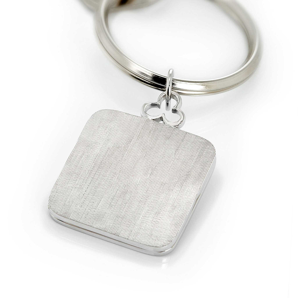 Devon Woodhill Pillow Locket Key Ring in Florentine Silver