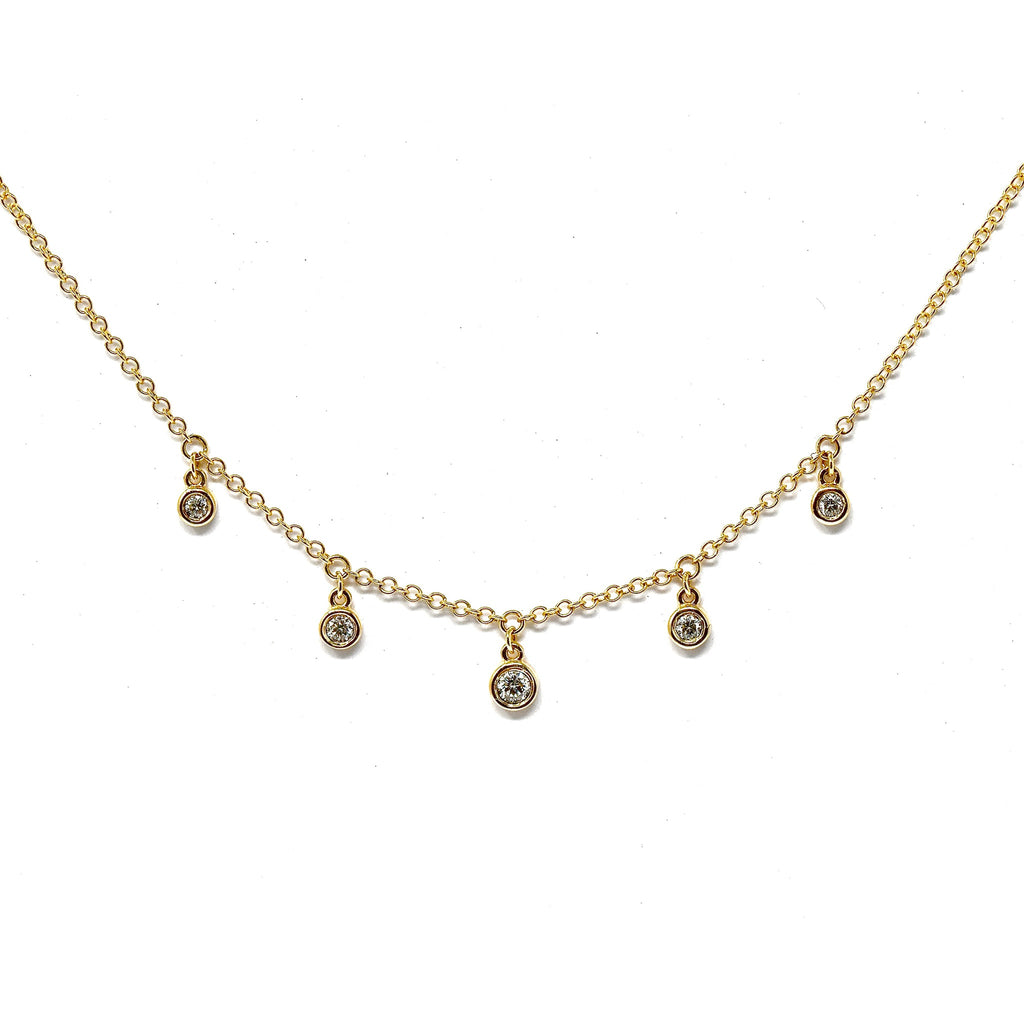 JL Rocks Fine Jewelry, Droplet Necklace in Yellow Gold