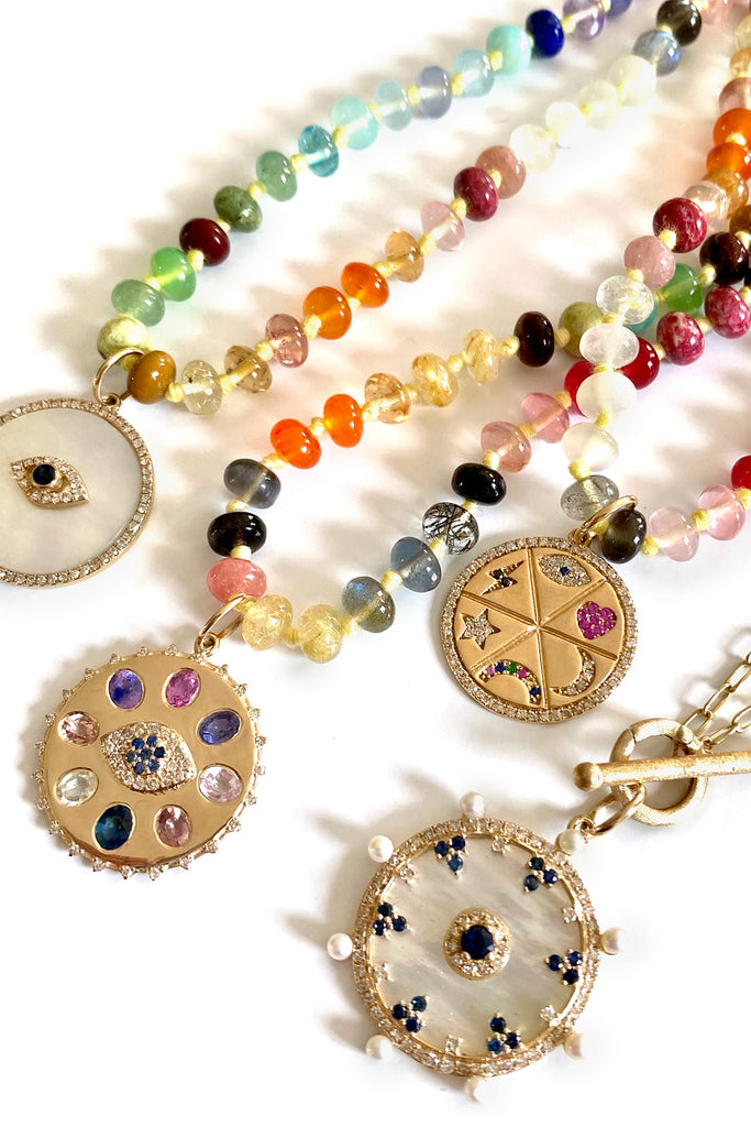 JL Rocks Fine Jewelry, Color Theory Bead Necklace Charms