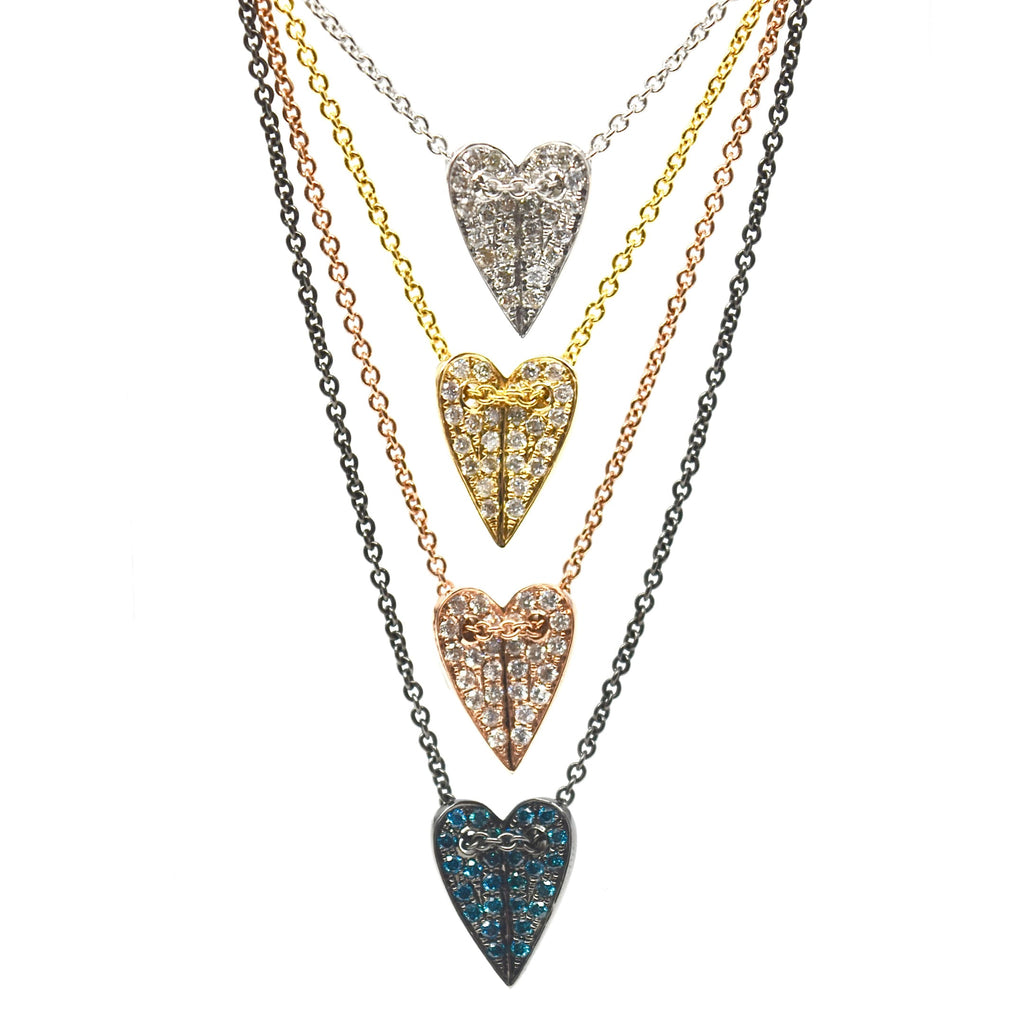 JL Rocks Fine Jewelry, Mini Folded Heart Necklace collection