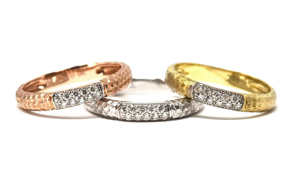 JL Rocks Fine Jewelry, Hammered Band Ring Collection
