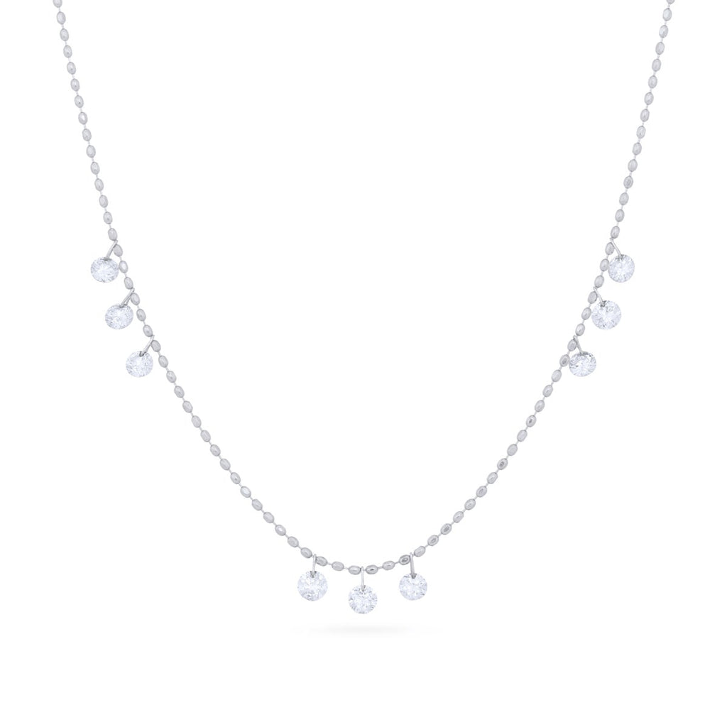 Diamond Ice Drop Necklace