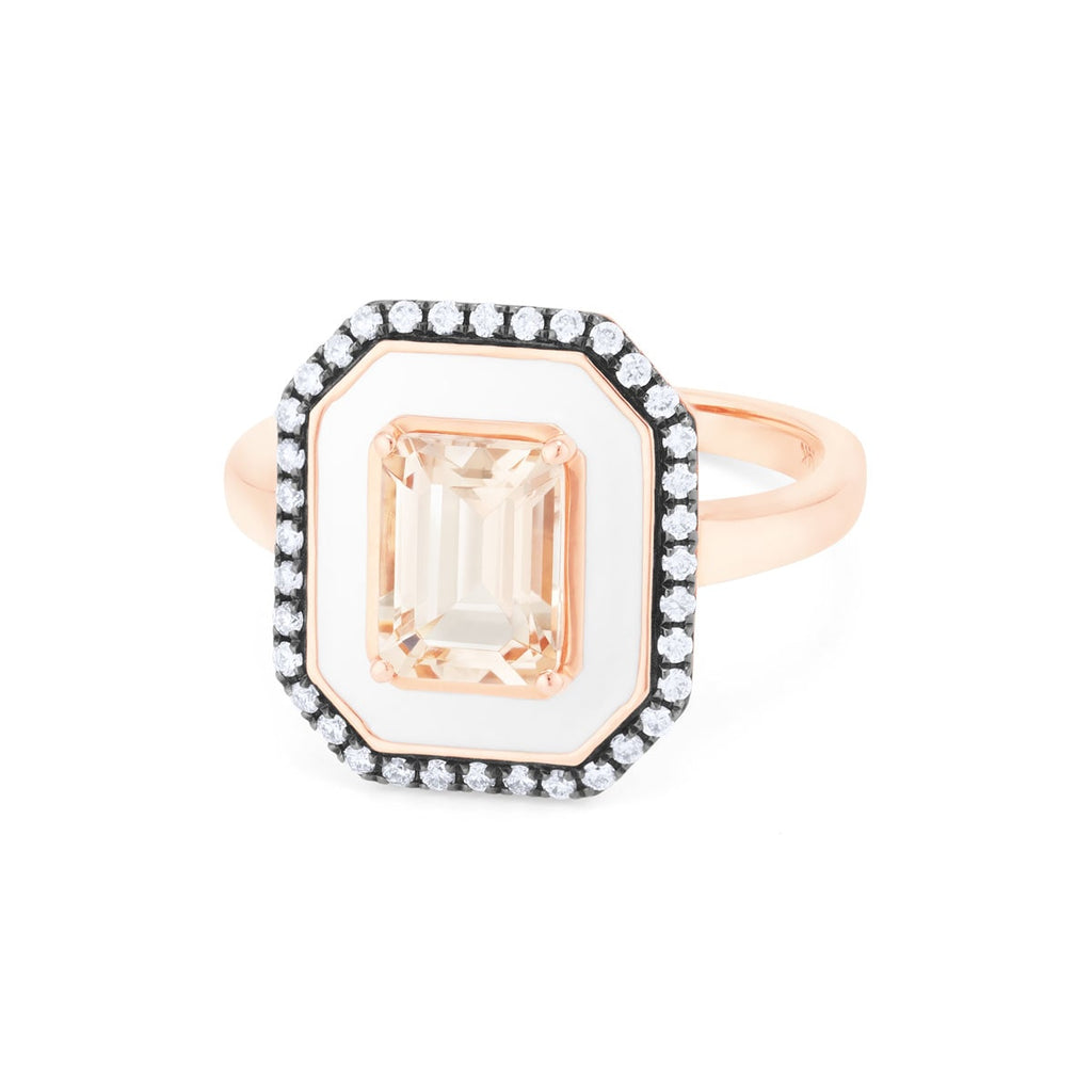 JL Rocks Fine Jewelry, Enamel with Morganite Ring