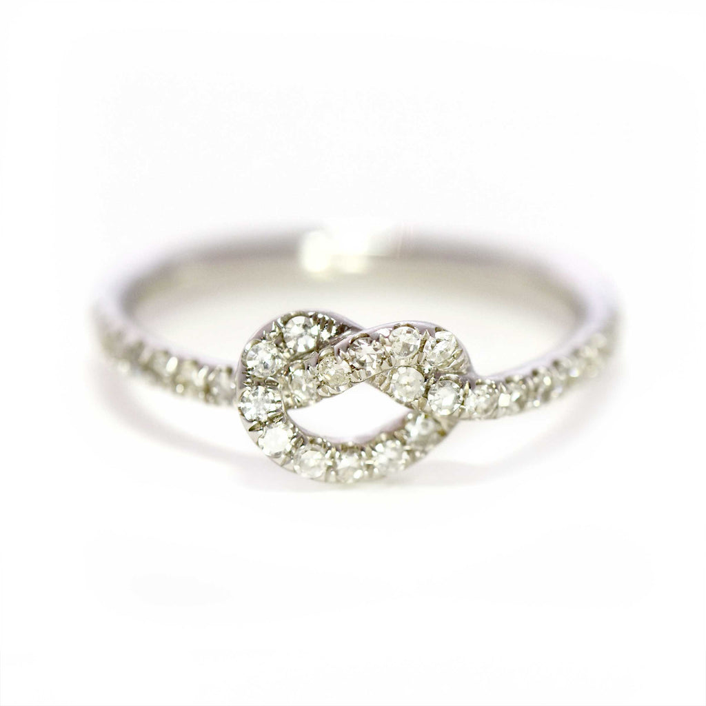 White Gold Love Knot Ring