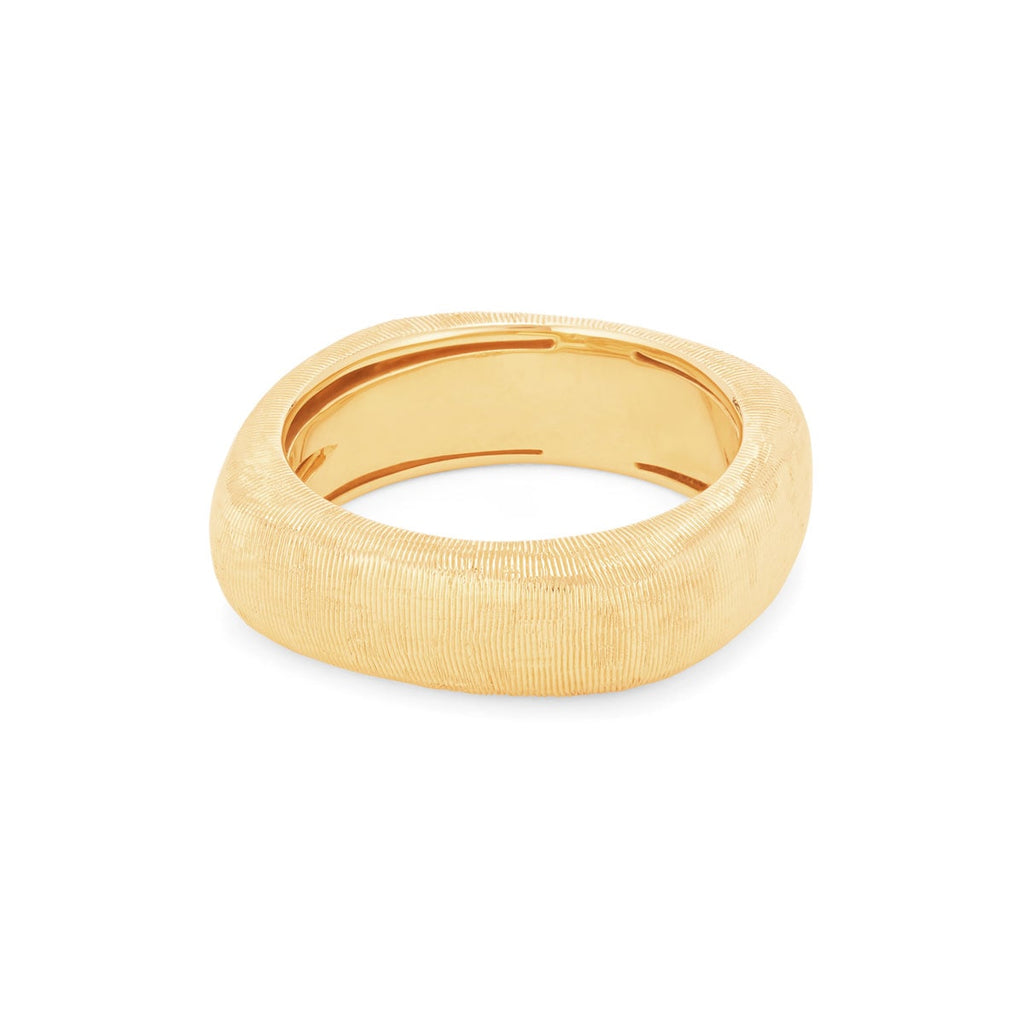 JL Rocks Fine Jewelry, Rounded Square Florentine Ring